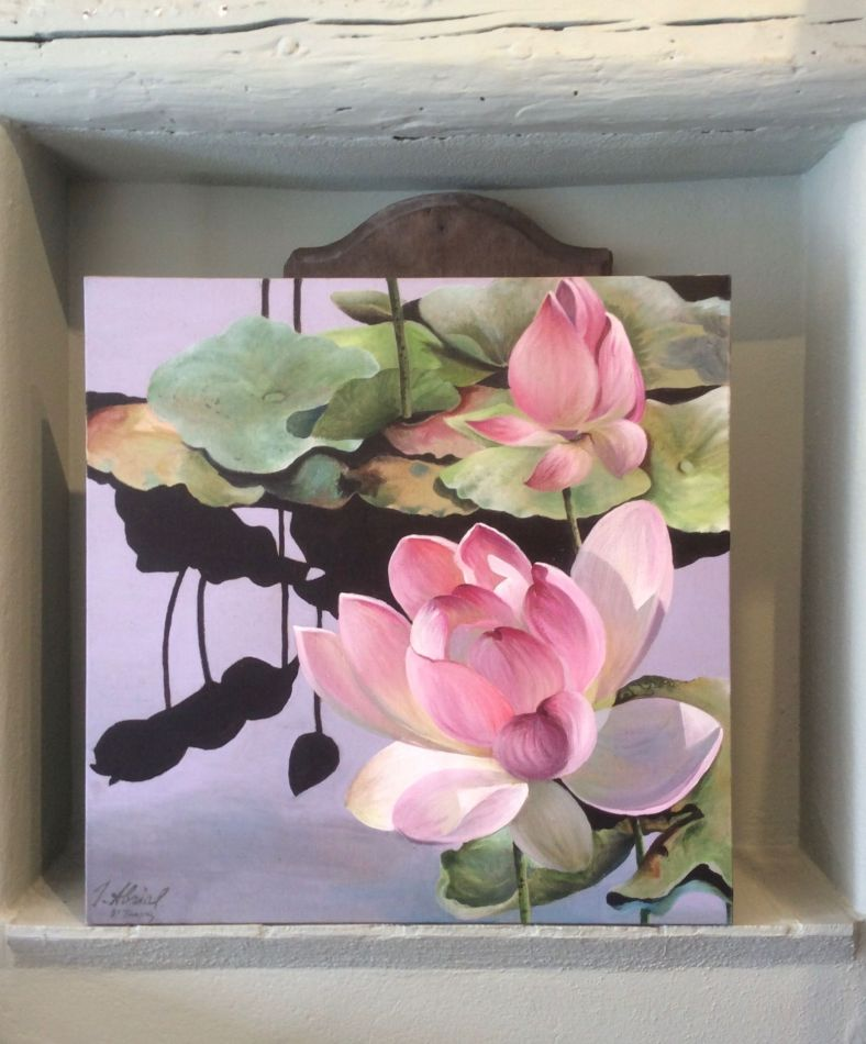 Lotus au reflet noir