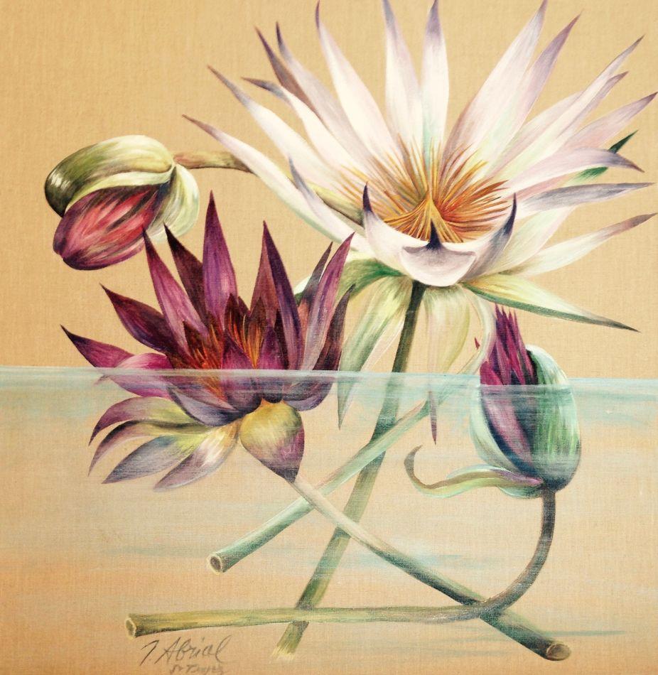 Lotus Moderne sur Eau Turquoise