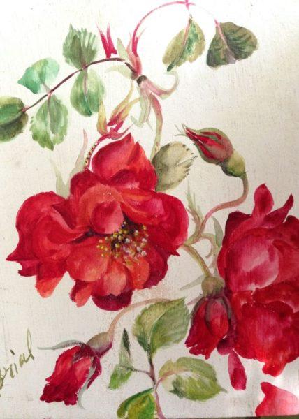 Roses Rouge Eclatant (détail)
