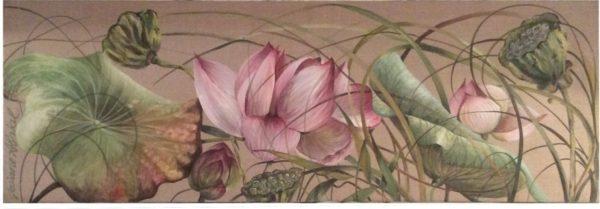 Lotus Rose en Bouton - © Josiane ABRIAL