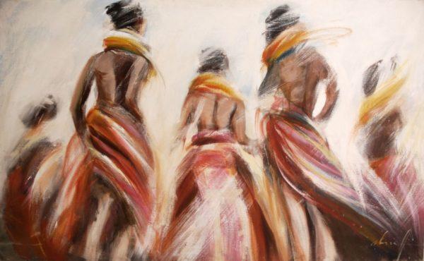 Danseuses colorées