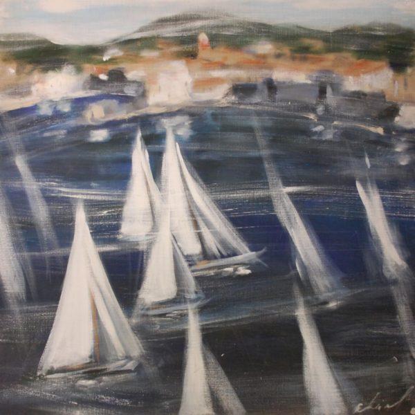 Les voiles dans le golfe de Saint Tropez