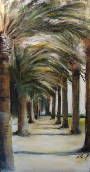 L'allée des palmiers à Gigaro