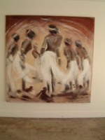 Groupe de femmes dansant.