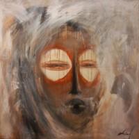 Masque aux yeux lumineux
