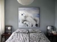 Maman et bébé Ours Blanc