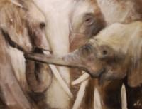 Trois éléphants graphiques
