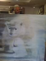 Ours blanc dans la tempête