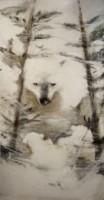 Ours Blanc dans la Forêt
