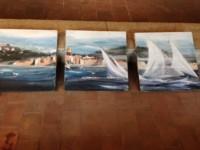 Voiles dans le Golfe de Saint Tropez (Triptyque)