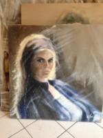 Portrait de Brigitte Bardot Boudeuse