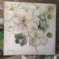Fleurs Blanches(Technique Fresque)