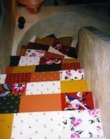Dans un escalier