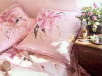 """Drap en soie """"Lilium Rose peint sur soie."""