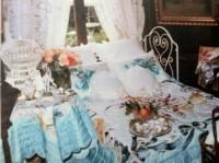 """Ensemble de chambre en soie peints à la main """"Romantique"""""""