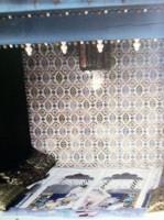 """Couvre lit king-size """"Erotique persan"""" peint sur soie et matelassé"""